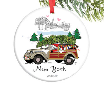 Santa in the City - NYC Ornament