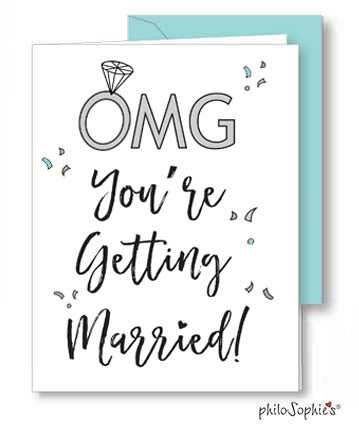 'OMG you're getting married!.'  Engagement Greeting Card
