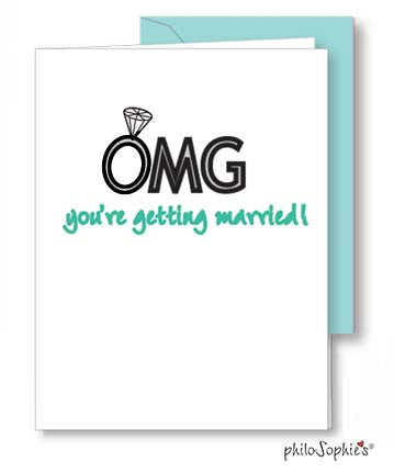 OMG - Engagement/Shower Greeting Card - philoSophie's®