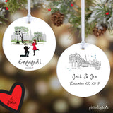 Winter Central Park Engagement Ornament - philoSophie's®