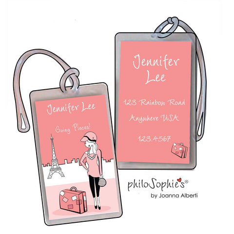 Paris Going Places Luggage Tags - philoSophie's®
