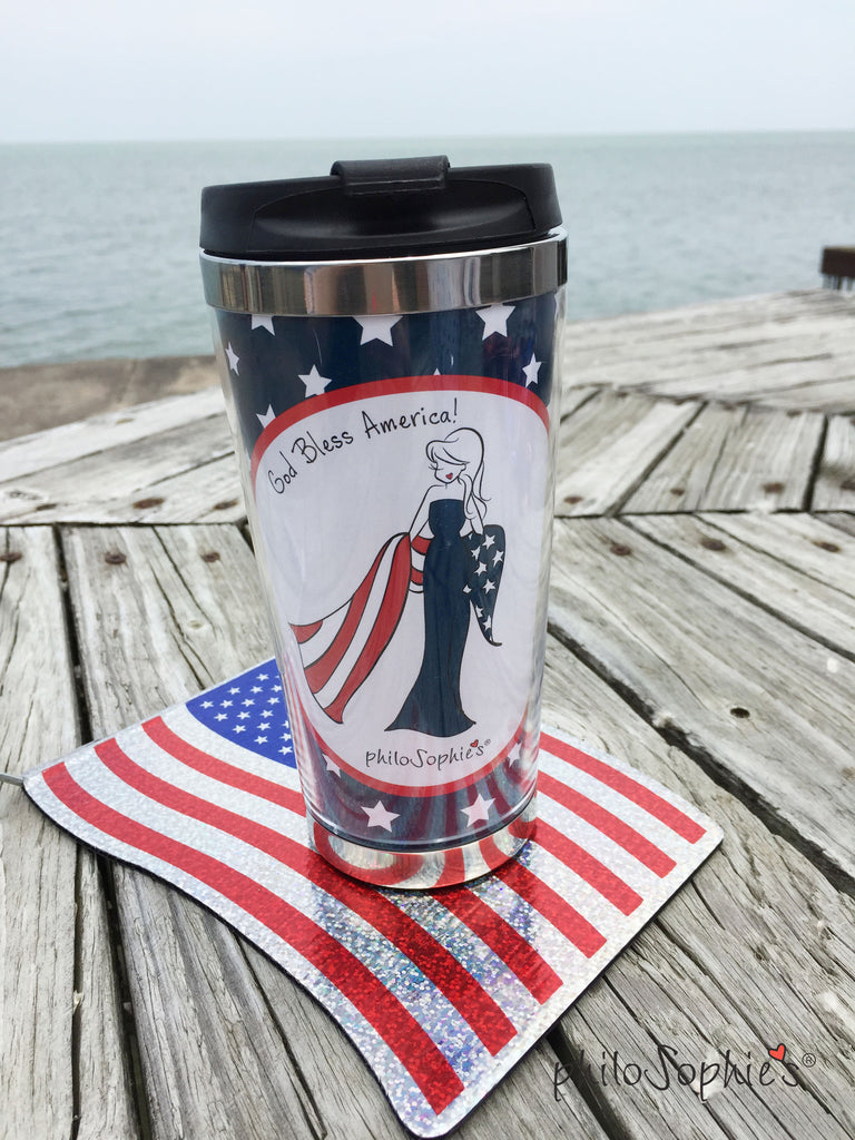 Patriotic Coffee Tumbler