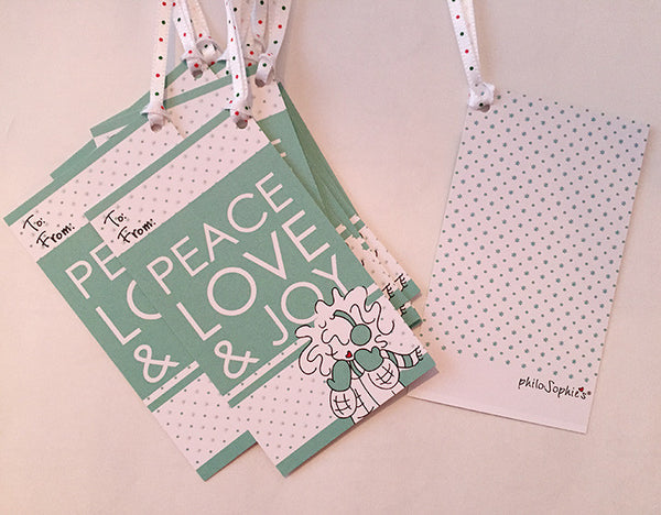 Peace Love Joy Gift Tags - philoSophie's®