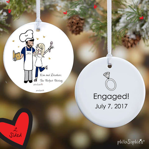 Perfect Pairing Engagement Ornament - philoSophie's®