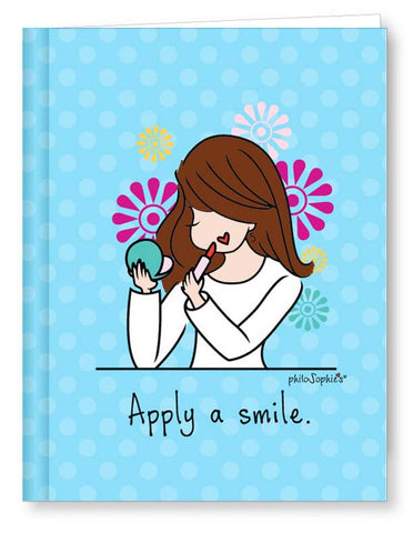Personalized Apply a Smile journal - philoSophie's®