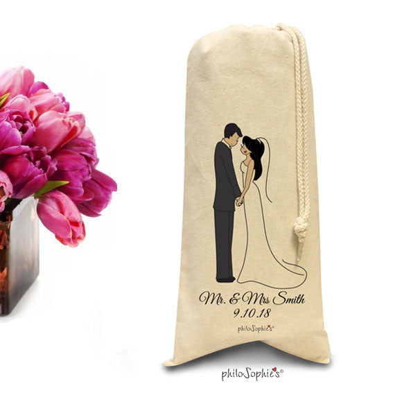 Personalized Wedding  Wine,Champagne Tote