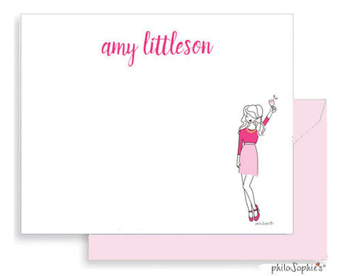 Pretty in Pink Flat Notes