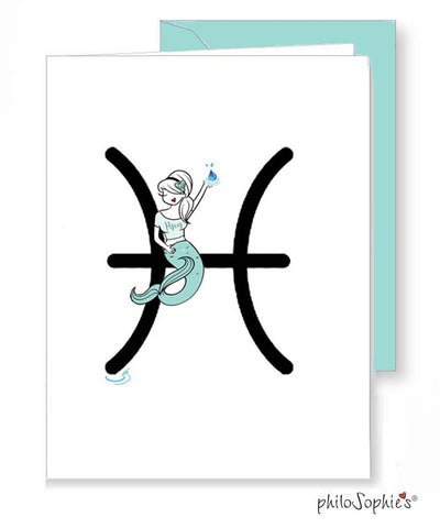 Zodiac: Pisces Greeting Card