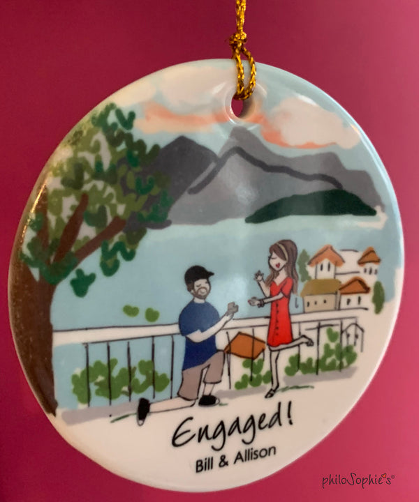 Engagement Personalized Wine Bottle Tag