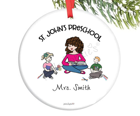 Preschool / Kindergarten  Teacher  Custom Ornament