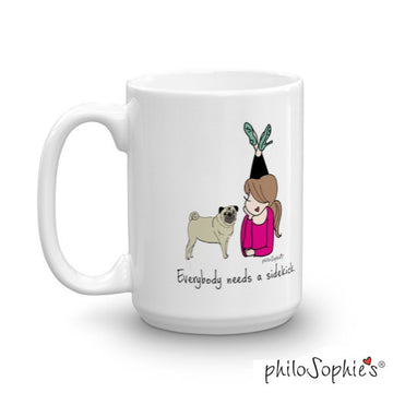 Everybody needs a sidekick - philoSophie's personalized Dog or Cat mug