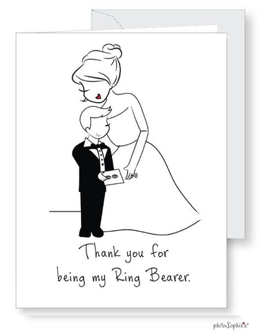Will you be? Thank you for being.... my ring bearer Greeting Card - philoSophie's®