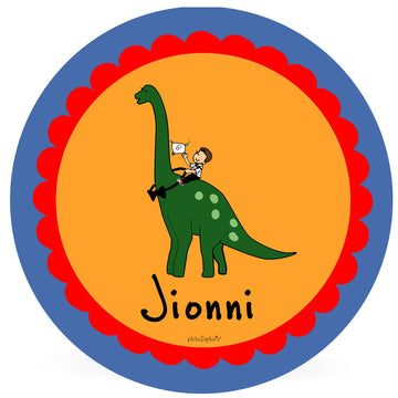 Personalized Ring Bearer Plate -  Dinosaur