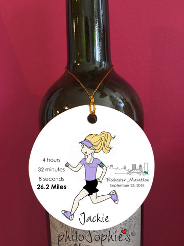 Rochester, NY personalized Runner/Marathon Ornament - philoSophie's®