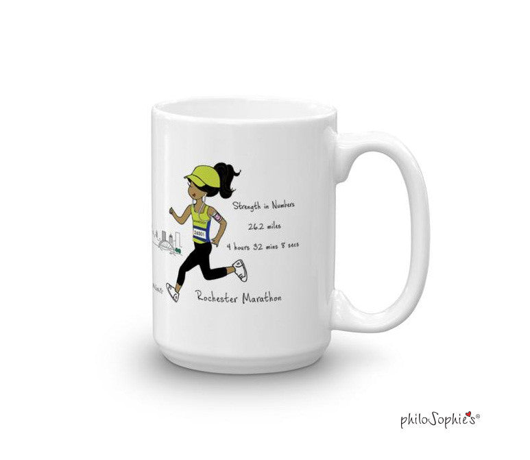 Rochester Marathon - Strength in Numbers - personalized mug
