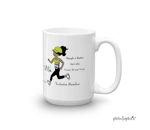 Rochester Marathon - Strength in Numbers - personalized mug - philoSophie's®