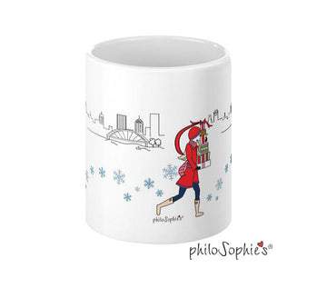 Cityscape Holiday Mugs - Rochester