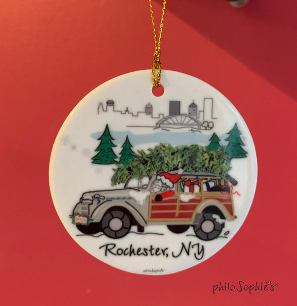 Santa in the City - Rochester Ornament