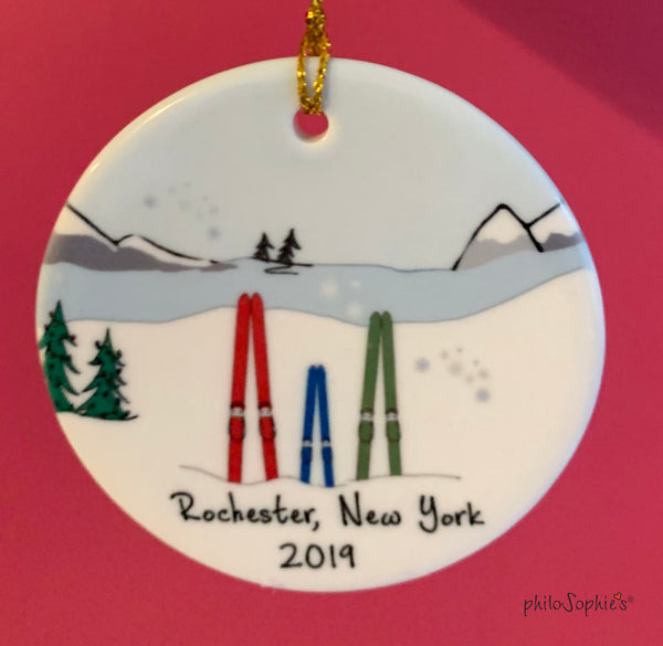Personalized Ski Family - Christmas 2020 Ornament