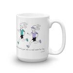 Runner Gift Set - Friend by your side mug & Always running notepad