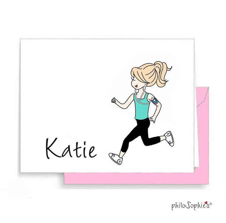 Runner Personalized Thank You Notes - philoSophie's®