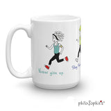Never Give Up. Runner Mug - Non personalized - philoSophie's®
