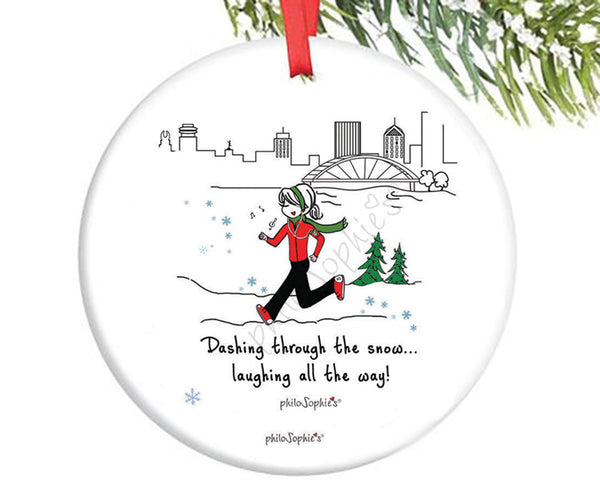 Holiday Run Ornament