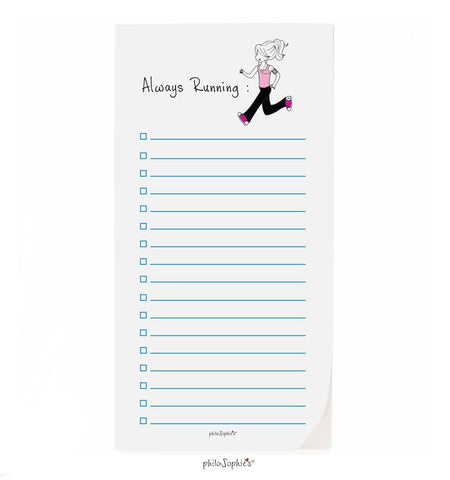 philoSophie❤️s® Always Running Notepad - philoSophie's®