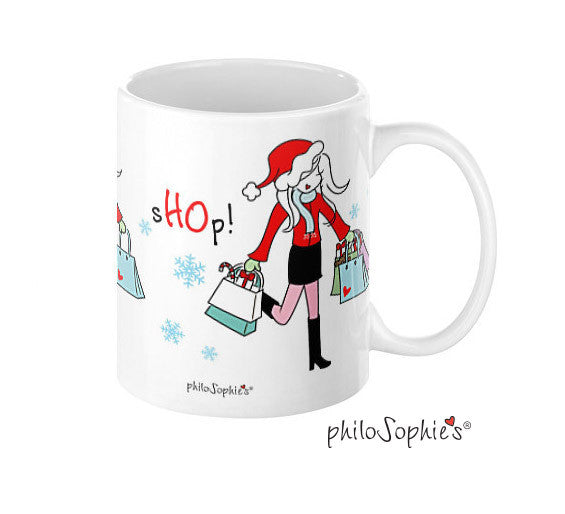 sHOp! sHOp! sHOp! Holiday Mug - philoSophie's®