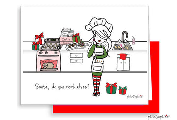 Santa Do You Rent Elves? Greeting Card