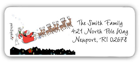 Santa's Sleigh - Return Address Labels - philoSophie's®