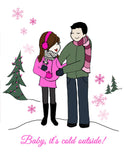 Personalize Expecting Baby it's cold outside! - philoSophie's®