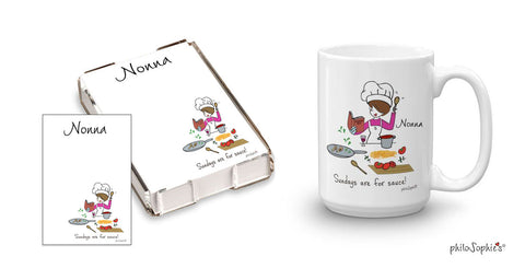 Sundays are for sauce! Personalized Gift Set