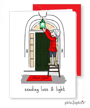 Sending Light & Love Greeting Card