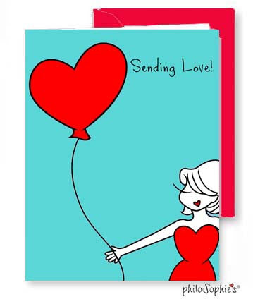 Sending Love /Thinking of You Greeting Card - philoSophie's®