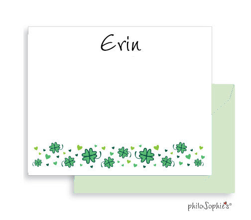 Personalized Shamrock Notes - philoSophie's®