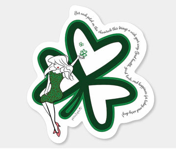 Shamrock Vinyl Sticker