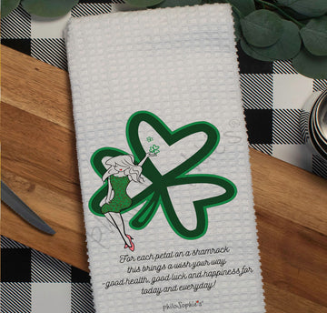 Petals of a Shamrock philoSophie's Waffle Towel