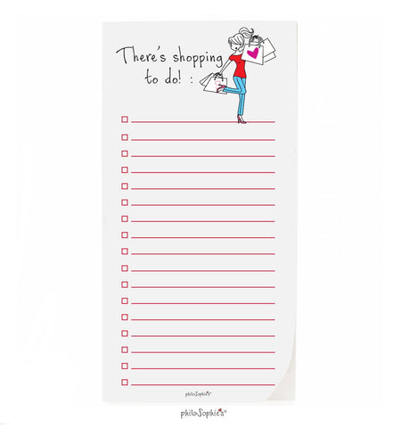 philoSophie❤️s® Shopping  To Do Notepad - philoSophie's®