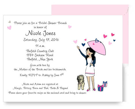 Personalized Bridal Shower - Showered with Love