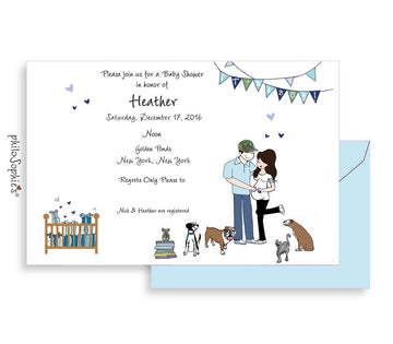 Personalized Baby Shower - Growing Family