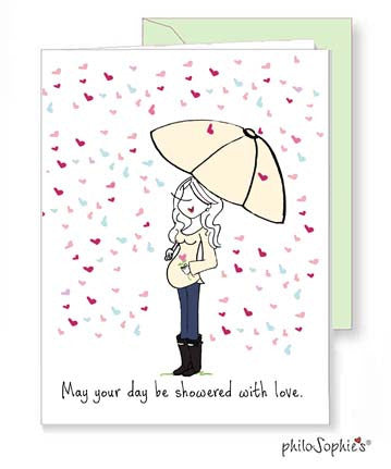Showered with Love - Expecting Baby Greeting Card