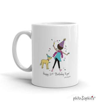 Happy Birthday sidekick mug personalized mug