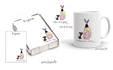 Dog Mom/Cat Mom - Sidekick philoSophie's  Personalized  Gift Set