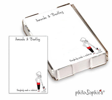 Everybody needs a sidekick Black/Red/White  Quick Notes - Personalized Dog, Cat Notes