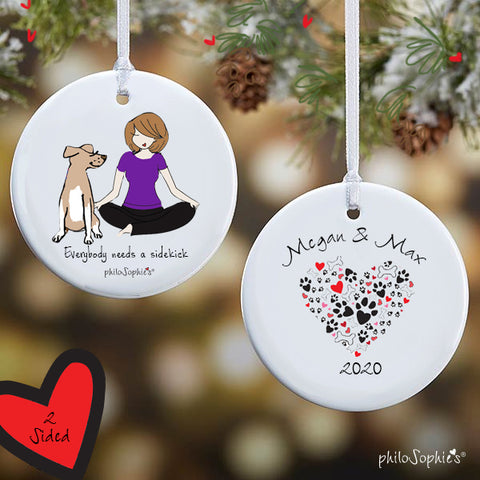 Sidekick Dog Personalized Ornament - philoSophie's®
