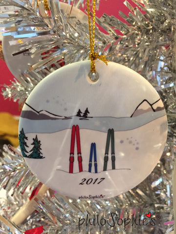 Ski Family Ornament - philoSophie's®