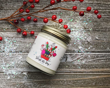 Sleigh the Day Holiday Candle