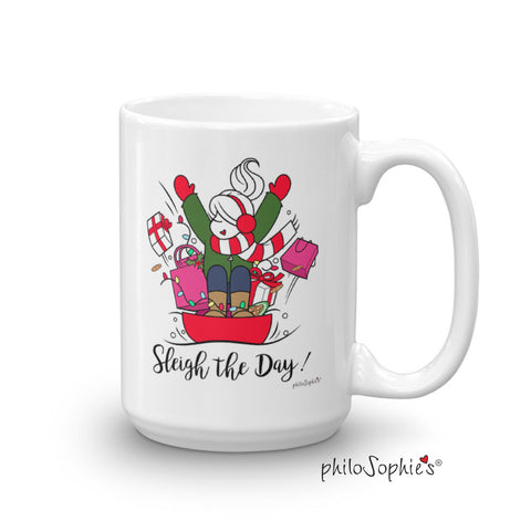 Sleigh the Day! Holiday Mug - philoSophie's®