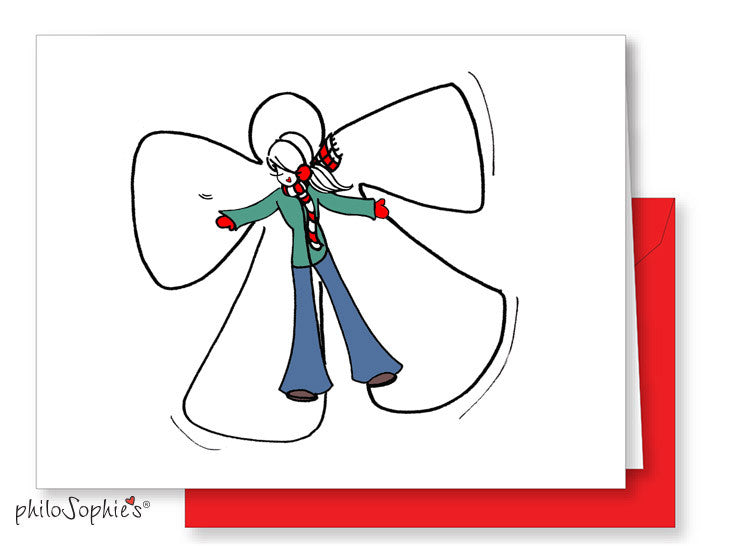 Snow Angel Greeting Card - philoSophie's®